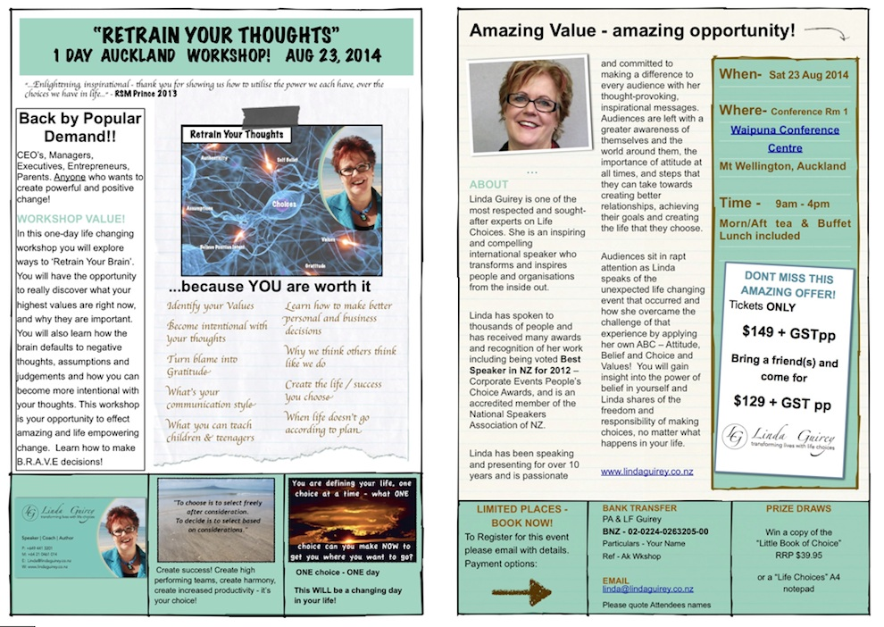 Retrain Yr Thoughts Workshop flyer Aug 2014-full page